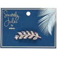 Sincerely Jules by Scünci Crystal Leaf Jeanwire Barrette - 6cm