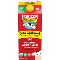 Horizon Organic Whole DHA Omega-3 Milk, Half Gallon