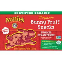 Annie's Homegrown Organic Bunny Fruit Snacks, Summer Strawberry