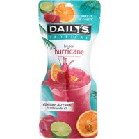 Daily's Tropical Frozen Hurricane Pouch Cocktail, 10 fl oz