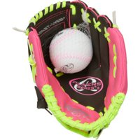 "Rawlings 9.5"" Players Series Youth T-Ball Glove with Ball Combo, Right Hand Throw"