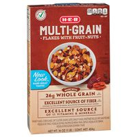H-E-B H-E-B Multigrain Whole Grain Wheat And Oat Flakes Cereal With Raisins, Dates And Pecans