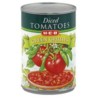 H-e-b Petite Diced Tomatoes With Green Chiles