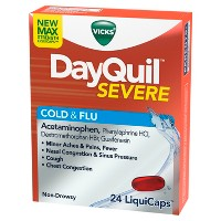 Vicks DayQuil Severe Cold & Flu Relief LiquiCaps - Acetaminophen - 24ct
