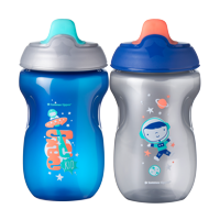 Tommee Tippee Toddler Sippee Cup, 9+ months – 10oz, 2ct (Colors May Vary)