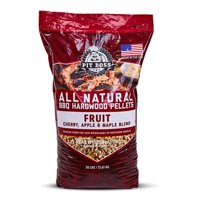 (2 pack) Pit Boss Fruit Blend Hardwood BBQ Grilling and Smoking Pellets - 30 lb Resealable Bag