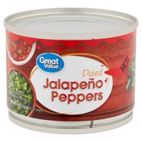 Great Value Hot Diced Jalapeño Peppers, 4 oz