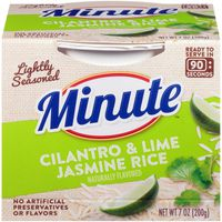 Minute Rice Lightly Seasoned Cilantro & Lime Jasmine Rice