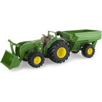 John Deere 8' Monster Treads Tractor with Wagon and Loader