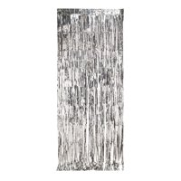 8ft x 3ft Silver Door Fringe, 1 count