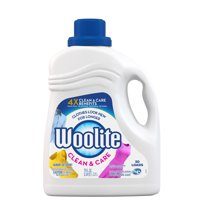 Woolite Clean & Care Liquid Laundry Detergent, 75oz, for machine washable delicate, HE & Regular Washers