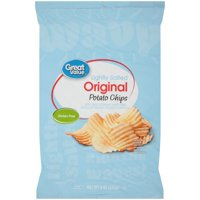 Great Value Lightly Salted Wavy Potato Chips, 8 Oz.