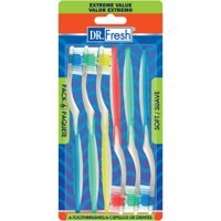 Dr. Fresh Toothbrushes, Soft, 6 ct