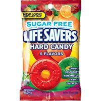 Life Savers, Sugar Free 5 Flavors Hard Candy Bag, 2.75 Ounce