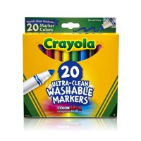 Crayola 20 Count Classic Ultra-Clean Washable Broad Line Markers
