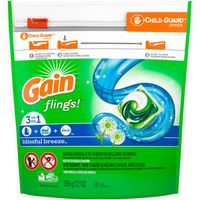 Gain Flings Liquid Laundry Detergent Pacs, Blissful Breeze