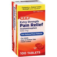 H-E-B Pain Relief Extra Strength Acetaminophen Easy Tabs