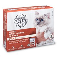 Special Kitty Mixed Grill Dinner Pate Wet Cat Food Multi-Pack, 12 Count
