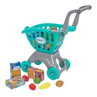 Spark. Create. Imagine. Shopping Cart with Food Play Set, 18 Pieces