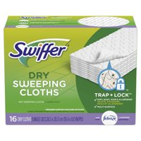 Swiffer Sweeper Dry Sweeping Pad, Multi Surface Refills for Dusters Floor Mop, with Febreze Lavender, 16 count