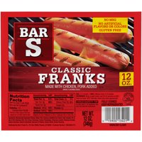 Bar S Franks Made with Chicken & Pork, 12 Oz.