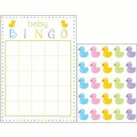 Way to Celebrate Baby Shower Bingo Game with Stickers, 10-pack