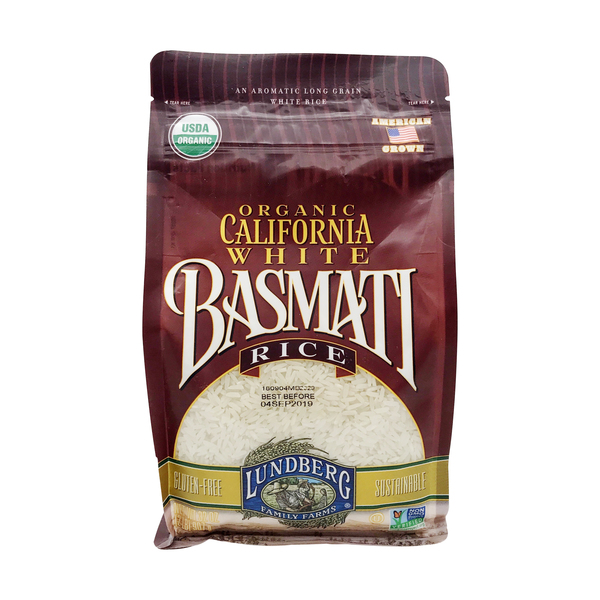 Organic California White Basmati Rice, 32 oz