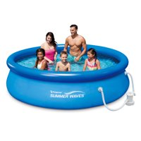 Summer Waves® 10ft Quick Set® Ring Pool with 600 GPH Filter Pump