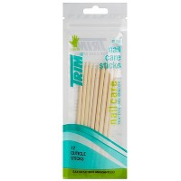 Trim Wood Nail Care Cuticle Sticks - 12pc