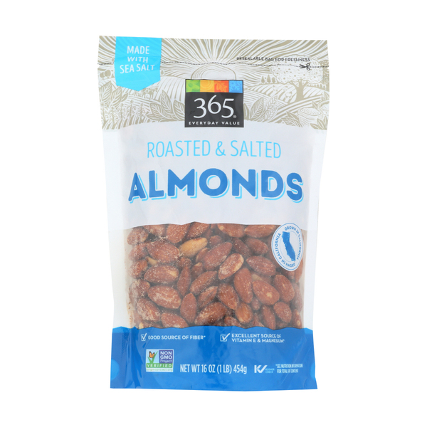 365 everyday value® Roasted And Salted Almonds, 16 oz