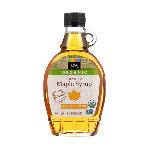 365 everyday value® Maple Syrup, Organic Grade A, Golden Color, 8 Fl. Oz.