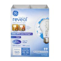 General Electric Reveal Clear Bulb 60w - 2 CT