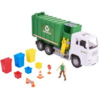 Kid Connection 11-Piece Light & Sound Recycling Truck Play Set