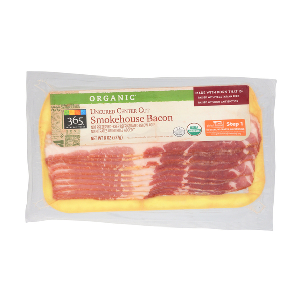 365 everyday value® Organic Uncured Center Cut Smokehouse Bacon, 8 oz