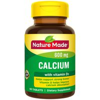 Nature Made Calcium (Carbonate) 600 mg with Vitamin D3 Tablets