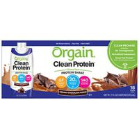 Orgain Clean Protein Chocolate Shake, 18 x 11 fl oz