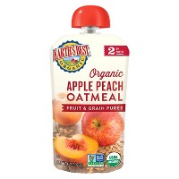 Earth's Best Organic Stage 2 Apple Peach Oatmeal Baby Food 4.2oz
