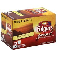 Folgers Coffee, Light Roast, Morning Cafe, K-Cup Pods