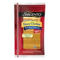 Sargento, Natural Cheese Sharp Cheddar Sliced Cheese, 16 Oz., 24 Count