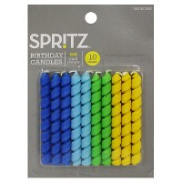 10ct Birthday Candle Twist Blue/Green - Spritz™