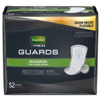 Depend Guards for Men - Maximum Absorbency - 52ct