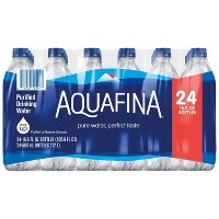 Aquafina Pure Unflavored Water - 24pk/16.9 fl oz Bottles