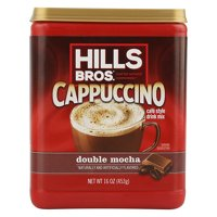 Hills Bros. Double Mocha Cappuccino Instant Coffee Mix, 16 Ounce Canister