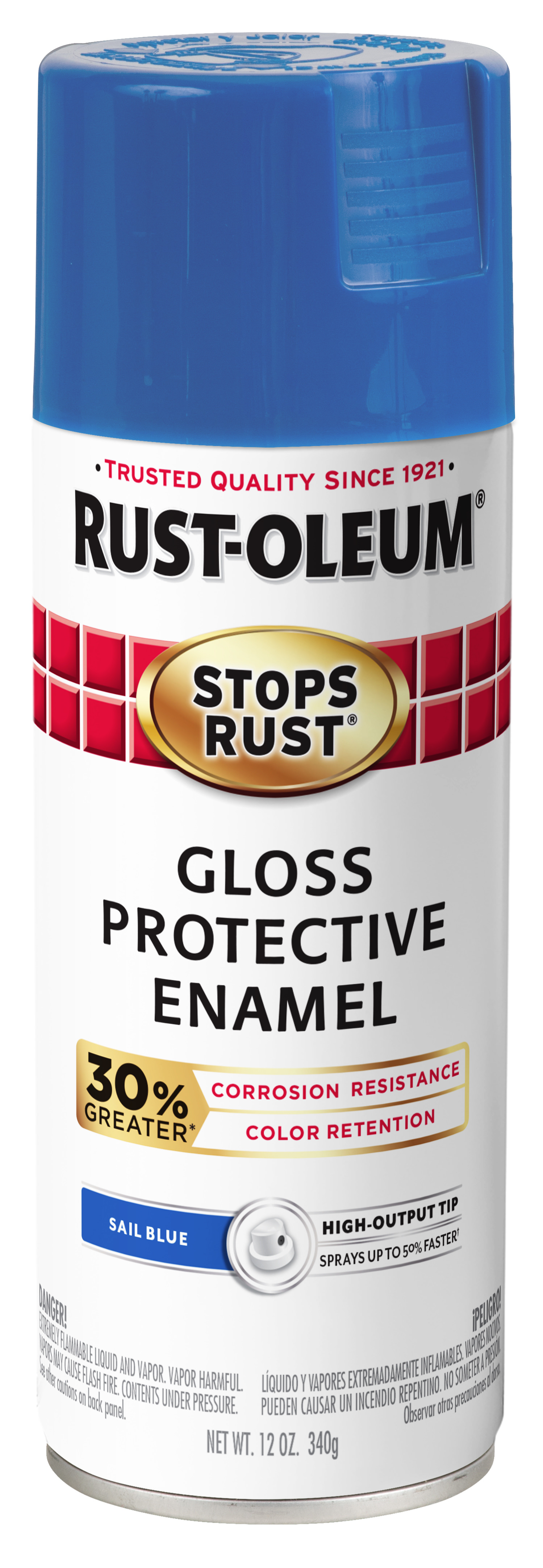 (3 Pack) Rust-Oleum Stops Rust Advanced Gloss Sail Blue Protective Enamel Spray Paint, 12 oz