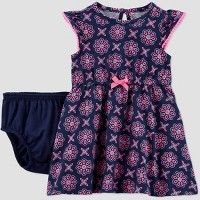 Baby Girls' Geometric Neon Dress - Just One You® made by carter's Navy