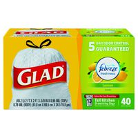 Glad OdorShield Tall Kitchen Drawstring Trash Bags, Febreze Fresh Lemon