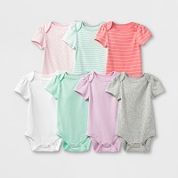 Baby Girls' 7pk Bodysuits - Cloud Island™