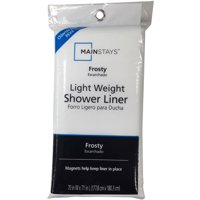 Mainstays Light Weight Frosty Shower Liner, 1 Each