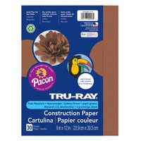 """Pacon Tru-Ray 9"""" x 12"""" Construction Brown Paper, 30 Count"""