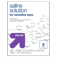 Saline Solution for Sensitive Eyes - 2ct (12oz each) - Up&Up™